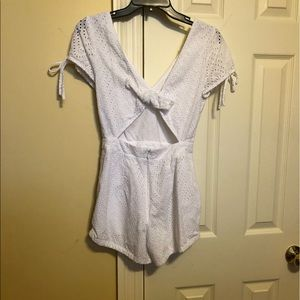 Express Other - White lace romper